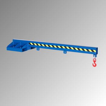 Lastarm - Länge 2.400 mm - Traglast bis zu 5.000 kg - enzianblau