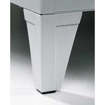 Stahl-Garderobenschrank, Umkleide, Spindschrank mit Füßen, 3 Abteile je 300 mm, Türfarbe enzianblau (RAL 5010), 1.850 x 900 x 500 mm (HxBxT) online kaufen - Verwendung 3
