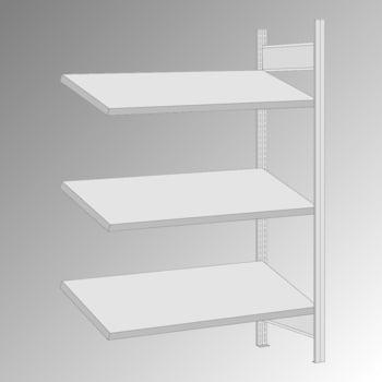 Schrägbodenregal - 150 kg - 3 Fachböden - 2.000 x 1.285 x 600 mm (HxBxT) - Anbauregal - verzinkt