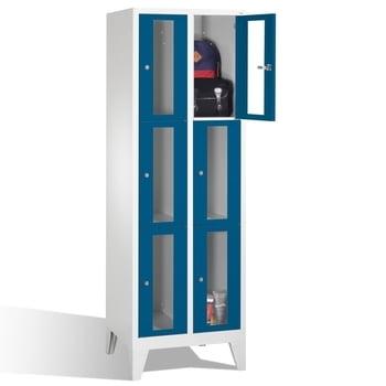Spindschrank, Schließfächer, Sichtfenster, 6 Fächer (3 x 2) je 300 mm, Türfarbe enzianblau, Korpusfarbe enzianblau, 1.850 x 610 x 500 mm (HxBxT) online kaufen - Verwendung 0