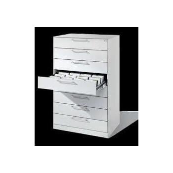 Hängeregistratur, Hängeregisterschrank, Aktenschrank, Büroschrank, DIN A6, 6 Auszüge, 4-bahnig, Farbe schwarzgrau, 998 x 800 x 600 mm (HxBxT) online kaufen - Verwendung 0