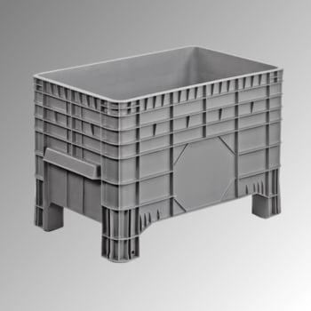 PE Palettenbox - 285 l - 670 x 1.040 x 640 mm (HxBxT) - Wände geschlossen - grau
