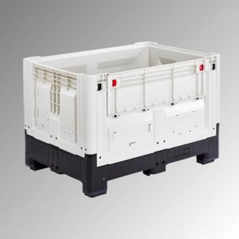 Palettenbox mit Füßen - Polyethylen - klappbar - Traglast 750 kg - 800 x 1.200 x 1.000 mm (HxBxT) - elfenbein/schwarz