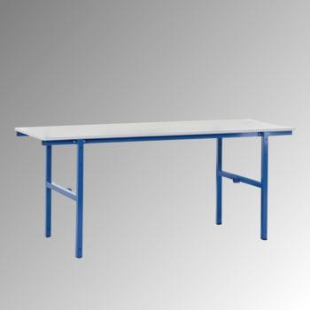 Packtisch - Traglast 100 kg - 850 x 2.000 x 800 mm (HxBxT) - enzianblau