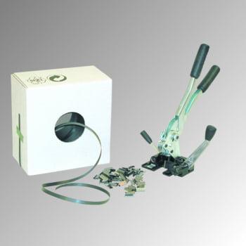 Umreifungs-Set - Bandbreite 13 mm - einteiliges Spann- und Verschlussgerät - 1.000 m PP Kunststoffband