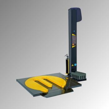 Halbautomatische Stretchmaschine - Hufeisendrehteller - 2 Strechzyklen - 2.700 x 3.100 x 1.600 mm (HxBxT)