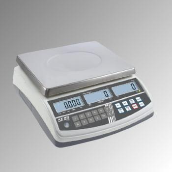 Zählwaage - Wägebereich 6 kg - Wiegeschritte 0,1 g - Edelstahl Wägeplatte 295 x 225 mm (BxT)