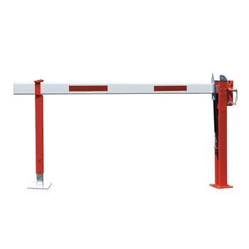 Schranke, Schlagbaum, Wegsperre, Wegfahrsperre, mit Gasdruckfeder, feste Auflagestütze, Breite 4.730 mm, Bauhöhe 1.000 mm