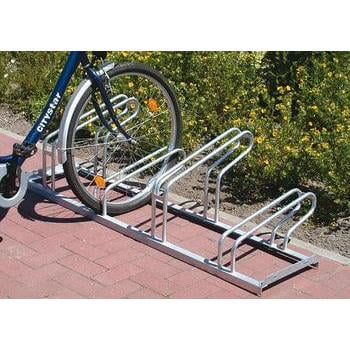 Fahrradständer, Fahrradhalterung, Fahrradbügelparker, einseitig, Radabstand 300 mm, max. Radbreite 43 mm, für Standardräder, Kapazität 6 Fahrräder