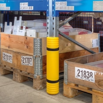 Regal-Anfahrschutz für Regalstützen von 60 - 85 mm, aus hochwertigem Polyethylen (MDPE), für Palettenregale, Kragarmregale, Lagerregale