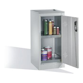 C+P Umweltschrank mit 2 Wannenböden, für wassergefährdende Stoffe, mit Flügeltür, 1.000 x 500 x 500 mm (HxBxT), Farbe lichtgrau online kaufen - Verwendung 2
