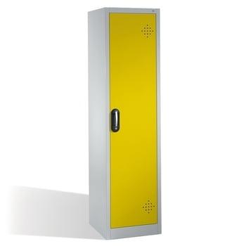 C+P Umweltschrank mit 4 Wannenböden, für wassergefährdende Stoffe, mit Flügeltür, 1.950 x 500 x 500 mm (HxBxT), Farbe lichtgrau/verkehrsgelb