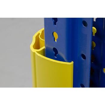 Regalanfahrschutz aus Spezialkunststoff, für Ständerbreiten 100 - 125 mm, Höhe 600 mm, Rammschutz für Palettenregale, Anfahrschutz für Regale online kaufen - Verwendung 2