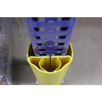 Regalanfahrschutz aus Spezialkunststoff, für Ständerbreiten 100 - 125 mm, Höhe 600 mm, Rammschutz für Palettenregale, Anfahrschutz für Regale online kaufen - Verwendung 3