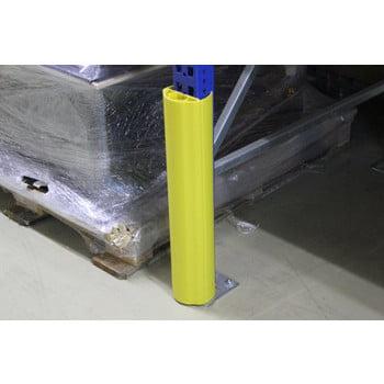 Regalanfahrschutz aus Spezialkunststoff, für Ständerbreiten 100 - 125 mm, Höhe 600 mm, Rammschutz für Palettenregale, Anfahrschutz für Regale online kaufen - Verwendung 4