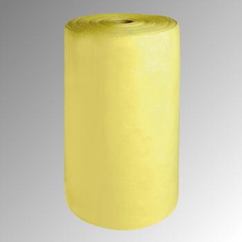 Bindevlies - Chemikalien - Bindemittelrolle - Einlagig - Rollenbreite 400 mm - VE 2 Stk. - Aufnahmekapazität 173 l - gelb