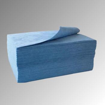 Bindevlies - Öl - Bindemitteltücher - Zweilagig - 400 x 500 mm - VE 100 Stk. - Aufnahmekapazität 101 l - blau