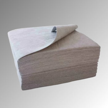 Bindevlies - Universal - Bindemitteltücher - Einlagig, saugstark - 400 x 500 mm - VE 100 Stk. - Aufnahmekapazität 113 l - grau