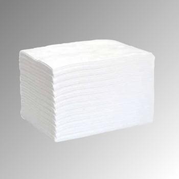 Bindevlies Tücher Öl - weiß - 400 x 500 mm - VE 100 Stk. - Aufnahmekapazität 113 l