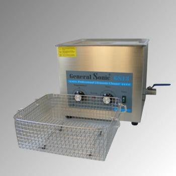 Ultraschallreiniger - Volumen 13 l - 324 x 355 x 326 mm (HxBxT) - Ablaufhahn - Edelstahl