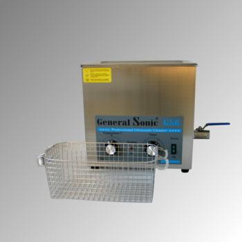 Ultraschallreiniger - Volumen 6 l - 310 x 330 x 180 mm (HxBxT) - Ablaufhahn - Edelstahl