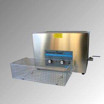 Ultraschallreiniger - Volumen 27 l - 383 x 530 x 325 mm (HxBxT) - Ablaufhahn - Edelstahl
