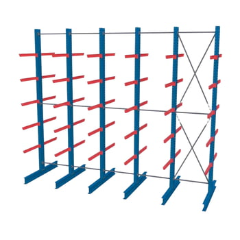 Doppelseitiges Kragarmregal, Langgutregal - 2.000 x 1.000 x 600 (HxBxT) - 750 kg - Anbauregal online kaufen - Verwendung 2