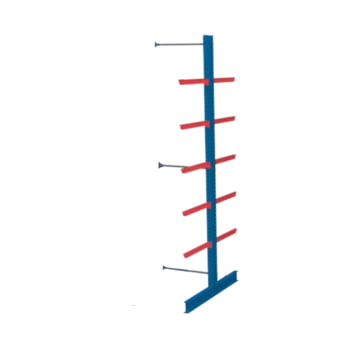 Doppelseitiges Kragarmregal, Langgutregal - 2.500 x 1.000 x 800 (HxBxT) - 750 kg - Anbauregal
