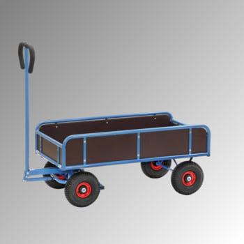 Handwagen - Traglast 400 kg - 1.185 x 700 x 1.375 mm - Vier Wände, fest