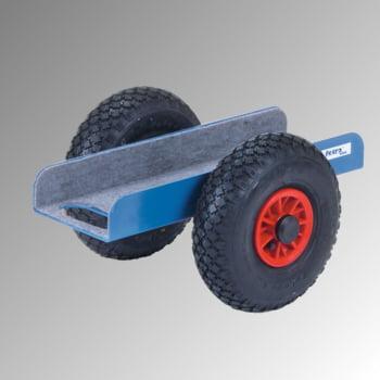 Fetra Plattenroller - Vollgummi-Bereifung - Tragkraft 500 kg - 250 x 500 x 380 mm (HxBxT) - brillantblau