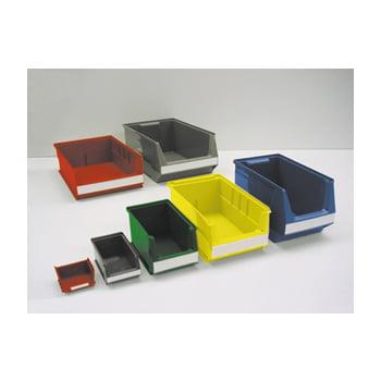 Sichtlagerkästen, Sortierkästen - (HxBxT) 145x210x350 mm - 14 Stück - Farbe grün