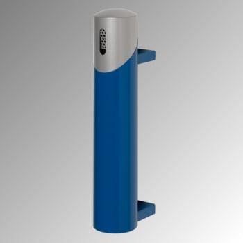 Wandascher aus Stahlblech - Volumen 1,4 l - 510 x 100 x 170 mm (HxBxT) - enzianblau/silber