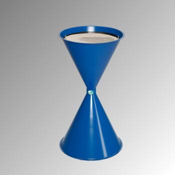 Standascher - 730 x 400 mm - Schale, Sieb - enzianblau
