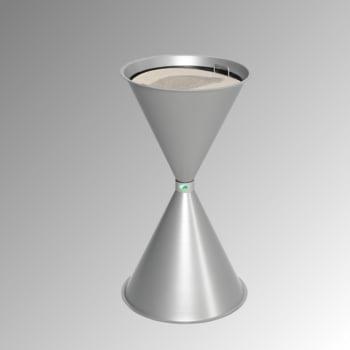 Standascher - 730 x 400 mm - Schale, Sieb - silber