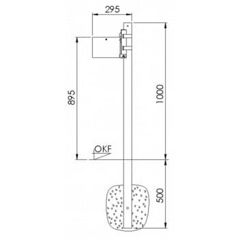 Rundascher - 4 l - Wand- o. Pfostenmontage - Aschenbecher - verzinkt online kaufen - Verwendung 2