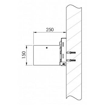 Rundascher - 4 l - Wand- o. Pfostenmontage - Aschenbecher - verzinkt online kaufen - Verwendung 3