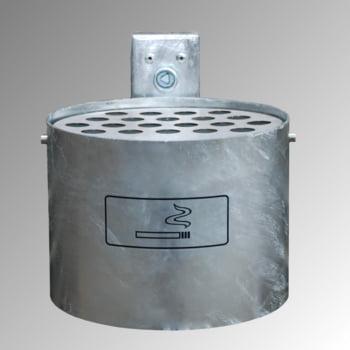 Rundascher - 4 l - Wand- o. Pfostenmontage - Aschenbecher - verzinkt online kaufen - Verwendung 0