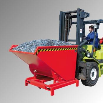 Schwerlast-Kipper - 4.000 kg - 1.700 l - automatische Entriegelung - rot