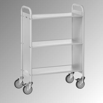 Fetra - Bürowagen - 150 kg - (BxT) 350 x 720 mm - 2 Fächer