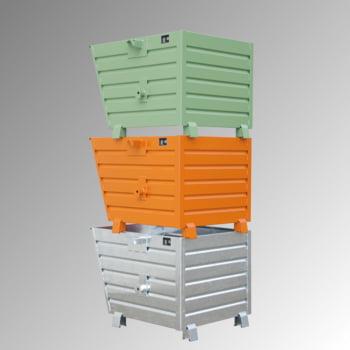 Stapelkipper 300 l - 500 kg - 800x600x600 mm - 3-Fach stapelbar - verzinkt online kaufen - Verwendung 0