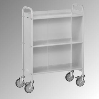 Fetra - Bürowagen m. Rückwand - 150 kg - (BxT) 350 x 720 mm - 2 Fächer