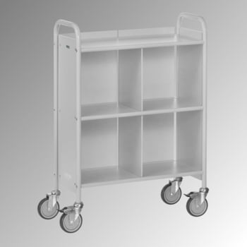 Fetra - Bürowagen m. Rückwand - 150 kg - (BxT) 350 x 720 mm - 4 Fächer