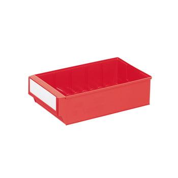 Lagerbox - LxBxH 300x183x81mm - 15 Stück Lagerkasten Regalkasten - rot