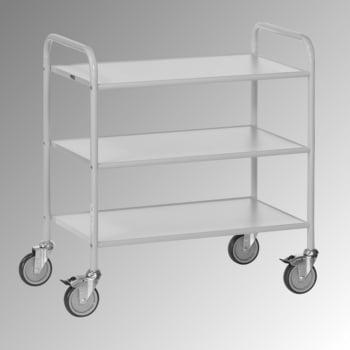 Fetra - Bürowagen - 150 kg - (BxT) 500 x 800 mm - 3 Etagen