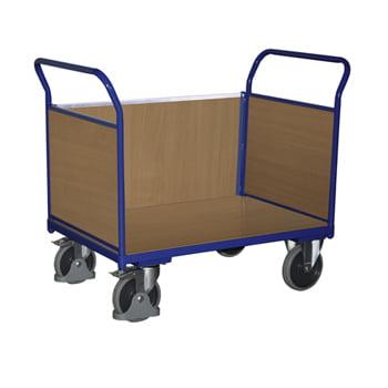 Transportwagen, Dreiwandwagen - Tragkraft 500 kg - Ladefläche 575 x 1.000 mm - Holzwände online kaufen - Verwendung 0