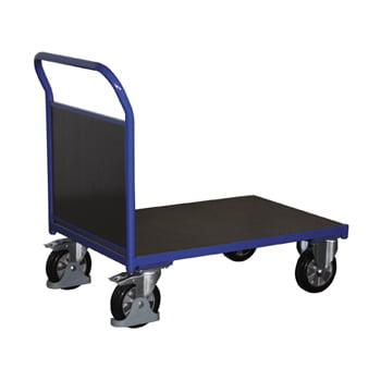 Plattform-Transportwagen, Stirnwandwagen - Tragkraft 1.000 kg - Ladefläche 800 x 2.025 mm (BxT) - Holzwände online kaufen - Verwendung 0