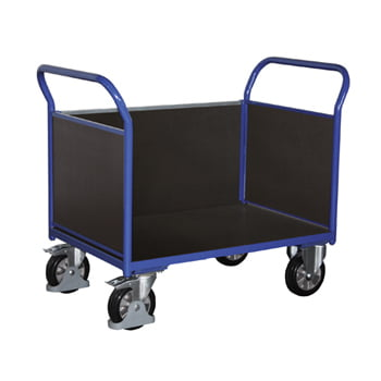 Schwerlast-Transportwagen, Dreiwandwagen - Tragkraft 1.000 kg - Ladefläche 765 x 1.195 mm (BxT) - Holzwände