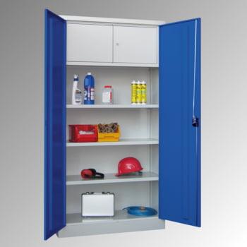 Universalschrank mit Wertfach - 1.950x1.000x600 mm (HxBxT) - 3 Böden, pulverbeschichtet - lichtgrau/feuerrot online kaufen - Verwendung 0