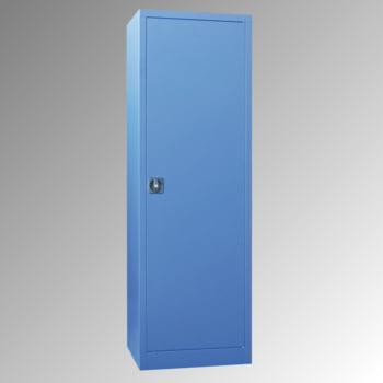 Flügeltürenschrank - Vollblechtür - 1.950x640x500 mm (HxBxT) - 4 Einlegeböden verzinkt - Zylinderschloss - lichtgrau/enzianblau