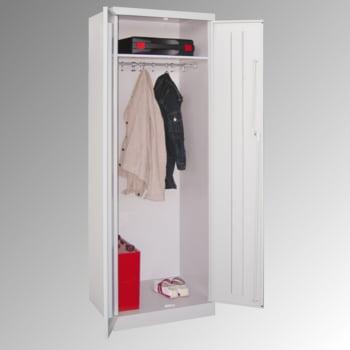 Garderobenschrank - 1 Fachboden - Kleiderstange - 1.800x600x500 mm (HxBxT) - Zylinderschloss - feuerrot